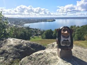 Årets Bergatroll med vy över Huskvarna/Jönköping